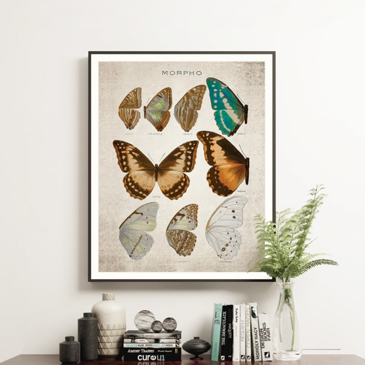 Minibeast Vintage Entomology Giclee Print (Morpho Collection 1 Plate From 1867)