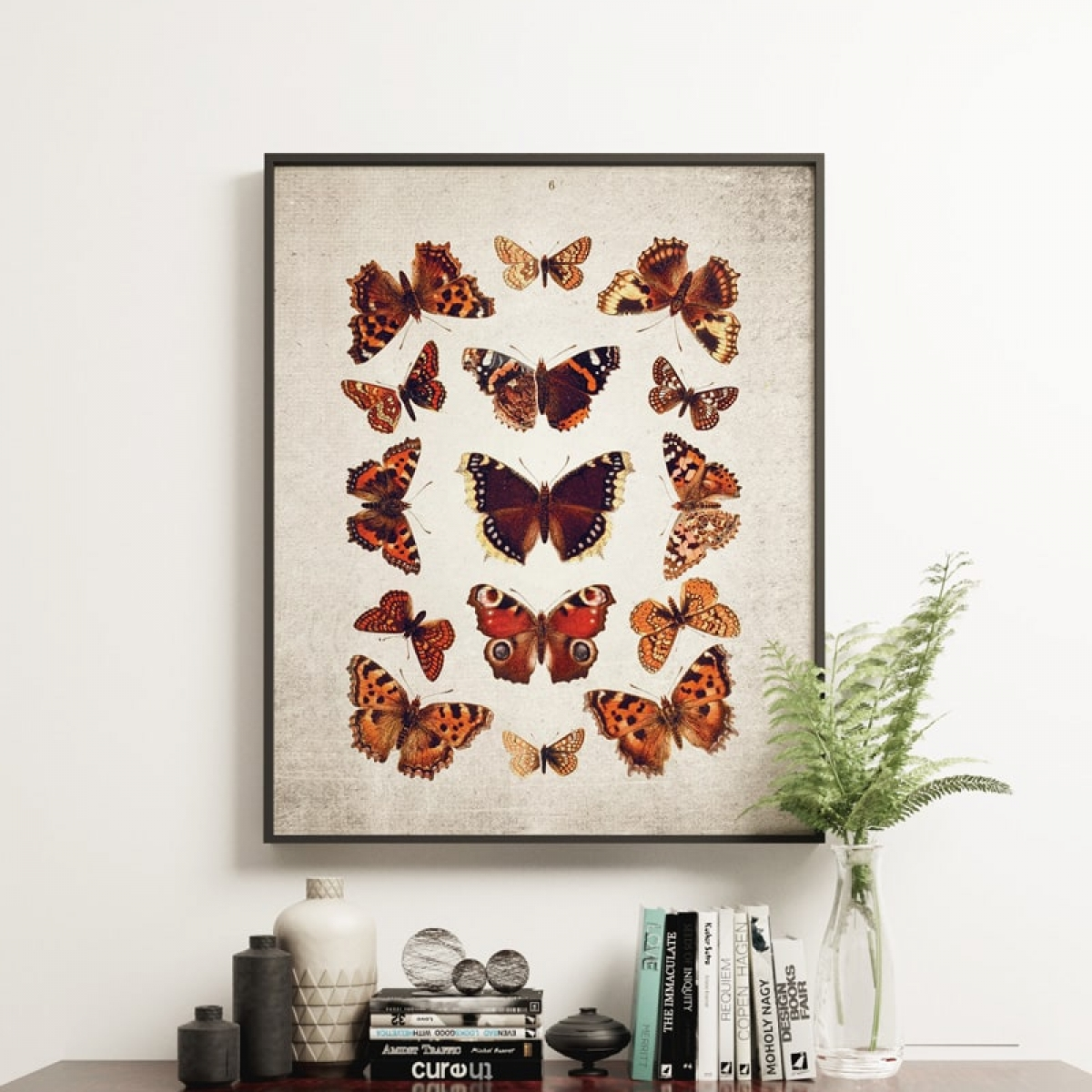Minibeast Vintage Entomology Giclee Print (British Butterflies Plate From 1837)